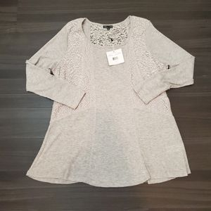 Long Sleeve RXB Waffle Tunic with Lace Details